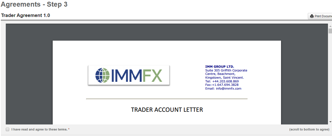 How To Register An Account Immfx